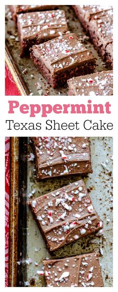 Peppermint Texas Sheet Cake recipe for the holidays!
