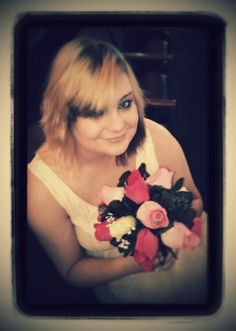 Bridesmaid with Roses