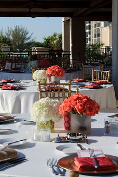 Beach Chic- I like their place setting, color palette, and wedding cake.