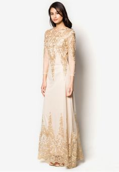 Placement Embroidery Maxi Dress