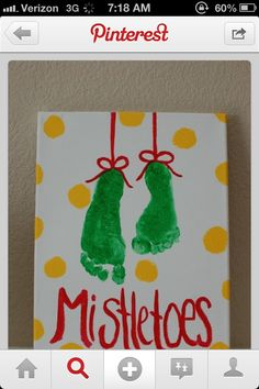 Mistletoes! Preschool craft