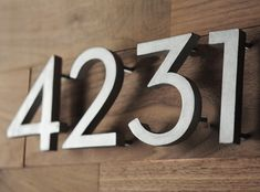 DIY Modern House Numbers....Can't wait to put up the plaque my dad made for my house!