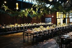 We'll have round tables, but this is our venue. love the greenery.