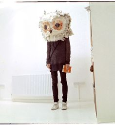 Image result for papier mache owl cat head