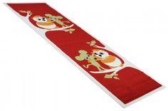 Kinderteppich Läufer Eule rot in 80 x 250 cm