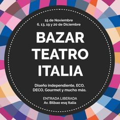 Bazar Teatro Italia, Barrio Italia, Providencia, Santiago. 15.11.2015