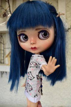 OOAK Blythe doll, Lana Custom art blythe doll by janasOOAKblytheDolls, panenky