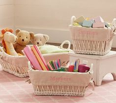 I love the Open Weave Baskets & Liners on potterybarnkids.com