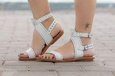 Zapatos de cuero sandalias sandalias planas sandalias por BangiShop