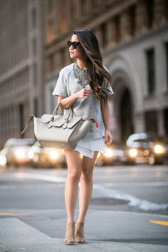 Sweater Dress And Celine Bag Outfit Idea