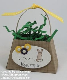 Stampin' Up! Petite Purse Easter Basket by jillastamps - Cards and Paper Crafts at Splitcoaststampers