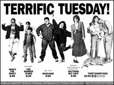 March 1989 ABC Tuesday Lineup TV Guide Ad - Sitcoms Online Photo Galleries