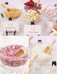 make your own ice cream sundae