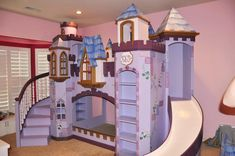 Check out this incredible princess themed castle. It also has LED lights in the turrets that really bring it to life!