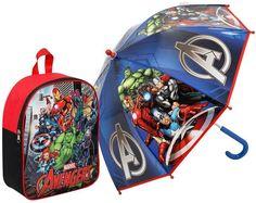 AVENGERS AGE OF ULTRON Avengers Umbrella & Junior Backpack Backpack Umbrella, Junior Backpacks, Kids Umbrellas, Avengers Age, School Essentials, Age Of Ultron, Children, Bags, Character