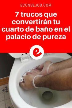 Cuarto de baño limpio | 7 trucos que convertirán tu cuarto de baño en el palacio de pureza | ¡Sin falta, toma nota de estos trucos!
