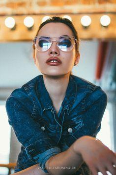 Portrait glasses beauty lips