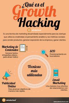 Qué es el Growth Hacking #infografia #infographic #marketing | TICs y Formación