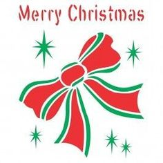 Christmas Bow Stencil (size x Reusable Stencils for Painting - Best Quality Christmas Project Ideas.