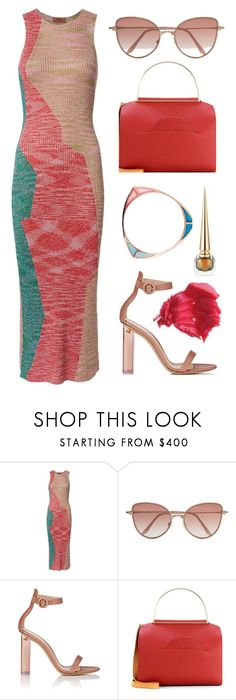 """""""Casual Friday"""" by dominosfalldown ❤ liked on Polyvore featuring Missoni, Cutler and Gross, Katie Rowland, Gianvito Rossi, Roksanda, Forever 21, CasualChic, knitdress and coffeebreak"""