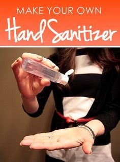 Create your own hand sanitizer scented with lavender, peppermint, patchouli oil... whatever you like. Great instructions!