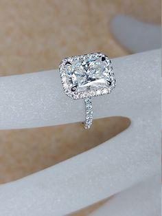 3ct Engagement Ring, Radiant Cut Engagement Rings, Diamond Wedding Rings, 3 Carat Diamond Ring, Square Wedding Rings, Timeless Engagement Ring, Wedding Engagement, Radiant Cut Diamond, Timeless Classic