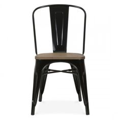 Pure Home Café Chair 31 (1,745 MXN) ❤ liked on Polyvore featuring home, furniture, chairs, metal furniture, metal chair, cafe furniture, metal bistro chairs and lightweight chair