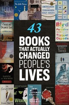 43 Life-Changing Books You Need To Read - I almost wrote this list off because of 'Perks of Being a Wallflower' but it has 'East of Eden' and 'A Thousand Splendid Suns,' so I'll accept it Eat, pray, read. Book Suggestions, Book Recommendations, Life Changing Books, Reading Rainbow, I Love Books, Read Books, Big Books, Books That Are Movies, Best Books Of All Time