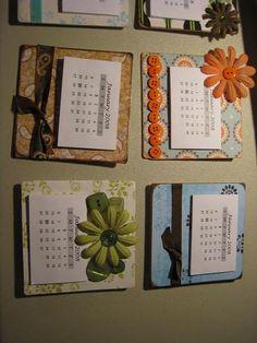 DIY: Crafty Calendars -- simple yet makes cute gifts