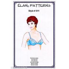 d9dce1a2b6 Low-cut Underwire Bra Sewing Pattern size 32A-40DD - Elan   511 Swimsuit