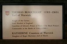 Thomas de Beauchamp, 11th Earl of Warwick | Katherine Mortimer Beauchamp ( - 1369) - Find A Grave Memorial