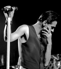 Dave Gahan of Depeche Mode during Touring the Angel.