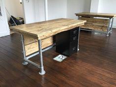 Reclaimed Scaffold plank urban industrial desk by Theoldwoodhut