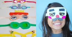 Want a fun and silly party favor for you kiddos??? Here's a fun one. Paper glasses!