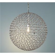 Silver Circles Sphere Pendant Light $179