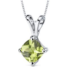 MSRP: $399.99 Our Price: $259.99 Savings: $140.00  Item Number: P9144 Availability: Usually Ships in 5 Business Days  PRODUCT DESCRIPTION:  Crafted in 14k White Gold, this classically designed pendant features a beautiful Cushion Cut Genuine ...