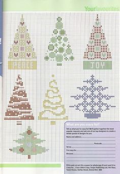 Christmas tree cross stitch!