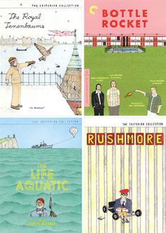 Illustrations for the Wes Anderson Criterion Collection by Ian Dingman