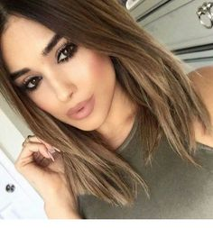 6 Great Balayage Short Hair Looks – Stylish Hairstyles Brown Blonde Hair, Brunette Hair, Dark Hair, Brown Ombre Hair, Medium Hair Styles, Short Hair Styles, Hair Medium, Great Hair, Balayage Hair