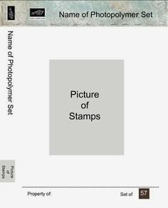 Photopolymer set inserts for clear-mount cases MDS Tutorial–Stamp Case Insert