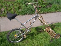 Bicycle lawn mower