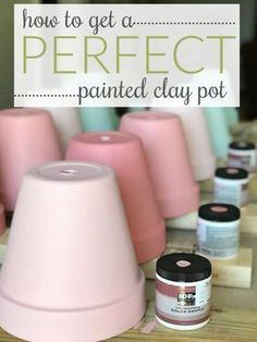 Hot to paint terra cotta pots tips and tutorial! Hot to paint terra cotta pots tips and tutorial! Clay Pot Projects, Clay Pot Crafts, Crafts To Make, Diy Projects, Diy Crafts, Garden Crafts, Garden Pots Ideas Diy, Paint Garden Pots, Stick Crafts