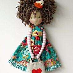 Amo tanto... #fabricdolls #handmadedolls