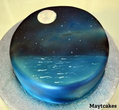Constellations over the sea - Hand painted