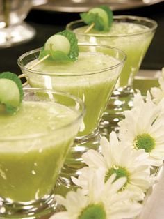 """Minty Melon Martini: I would love to rename this drink """"Shaken Not Stirred"""" for my wedding. It would be a perfect welcome drink as our guests arrive at the venue, adding to the James Bond element of the wedding."""