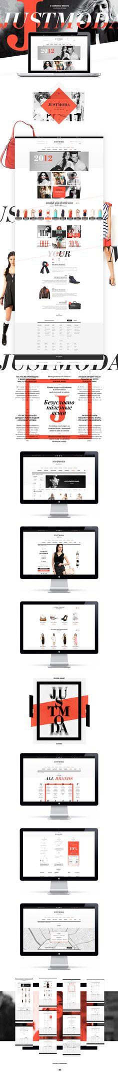 Justmoda web design