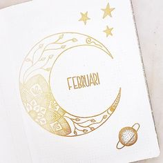 Love this lunar #hellofebruary page from @createmore.se @Regrann from @createmore.se - Details on my February spred ⭐️ . . . . . #bulletjournal #journaling #scrapbooks #creativity #inspo #calendar #planning #showmeyourplanner #zenofpl
