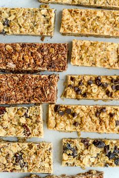 Healthy No-Bake Protein Granola Bars - Simple Roots Low Carb Protein Bars, Protein Bar Recipes, Healthy Cookie Recipes, Protein Bites, Paleo Treats, Healthy Cookies, Healthy Baking, Raw Food Recipes, Energy Bites