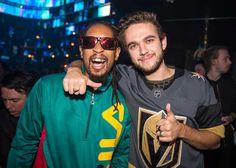 DJ Zedd and Lil Jon at the Las Vegas Benefit Event hosted by Hakkasan at the Omnia Nightclub - Photo courtesy of Rukes / Hakkasan Group #Zedd #LilJon #DJ #Vegas