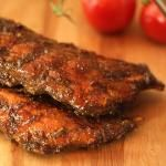Smoked Baby Back Ribs with Espresso Barbecue Sauce